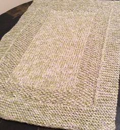"""Rug Knitting Patterns.  I think this might go in the """"Not Worth It"""" file.  Besides, how much is yarn going to cost vs. buying the darn rug?"""