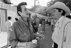 British rocker Joe Strummer and Texas rocker Joe Ely rocking bolo ties.
