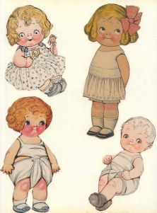 Dolly Dingle paper dolls created by Grace Drayton