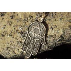 Hamsa Pendant with Star of David