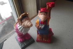 Alf Alien Products 2 Vintage Wendys 1990 Toys Brick Layer Red Flower Pink Kissin #AlienProducts