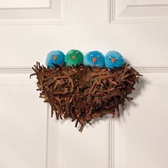 DIY Craft Baby Bird Nest - OrientalTrading.com  This is just too cute!  You don't have to order this kit to make this!  Let your imagination take over!  Preschoolers would LOVE this! - Kat
