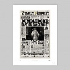 The Daily Prophet™ You can buy the print from minalima store (Harry Potter graphic designers) - brilliant!