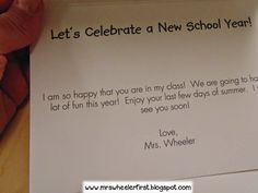 Celebrate a new school year with a special welcome back card.