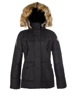 Pajar Womens KIMMY Down Jacket Fur trim BLACK L ** More info could be found at the image url.