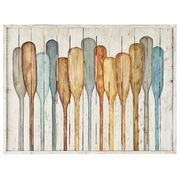 Hand-painted on pine, our depiction of oars against a planked wood fence will remind you of lazy days on a quiet lake. With just the right blend of muted blues and neutrals, it will add a peaceful touch to your living room, office or den. Lake Decor, Coastal Decor, Coastal Style, Coastal Interior, Haus Am See, Lake Art, Pintura Country, Lake Cabins, Beach Wall Art