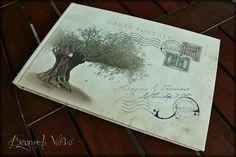 Carte Postale guestbook / wishbook - Olive tree - Vintage wedding stationery - Beyond Verve