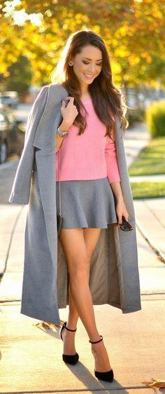 Grey Long Coat # Best Fashion & Inspiration