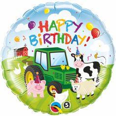 Items similar to Barnyard Party Mylar Balloon, Tractor Balloon, Farm Animals Birthday Party Balloons, Barnyard Birthday Party Decorations on Etsy Cow Birthday Parties, Farm Birthday, Birthday Ideas, Tractor Birthday, Birthday Text, Birthday Pictures, Birthday Messages, Happy Birthday Foil Balloons, Happy Birthday Banners