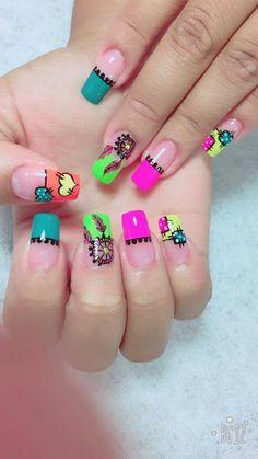 Uñas maravillosas Different Types Of Nails, Organic Nails, Toe Designs, Lily, Make Up, Nail Art, French, Beauty, Finger Nails