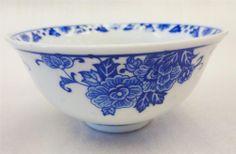 Porcelain Ceramic Blue and White Rice Soup Bowl Classic Linglong Hole Decoration