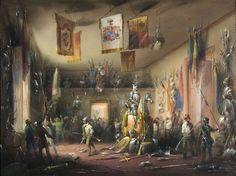 Carlo Bossoli (1815–1884)-The Armor... http://viktor-sbor.tumblr.com/post/159632475850/carlo-bossoli-18151884-the-armory-of-the-ubaldo by http://apple.co/2dnTlwE