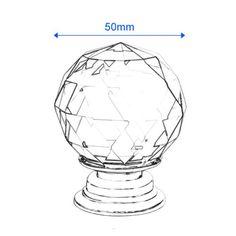 Revesun 8PCS/LOT Diameter 50mm Clear Crystal Glass Door Knobs Cabinet Pulls…