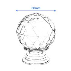 Revesun 8PCS/LOT Diameter 50mm Clear Crystal Glass Door Knobs Cabinet Pulls…
