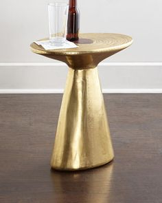 Dorian Brass Accent Table at Neiman Marcus.