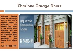 Garage Door Repair Charlotte NC, Openers U0026 Installation Company