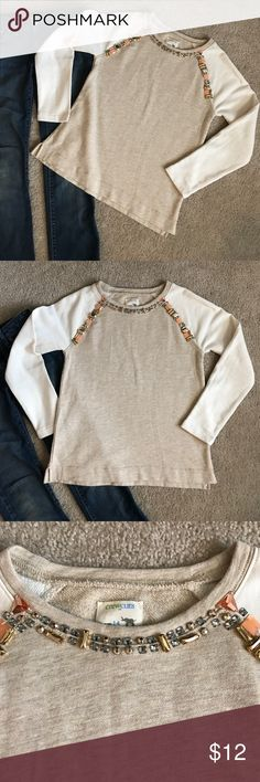 🌟 Crew Cuts Sparkly Sweatshirt Top Jewels 14 Pet-free, smoke-free home. Jeans not included. Like new condition. J. Crew Shirts & Tops Sweatshirts & Hoodies