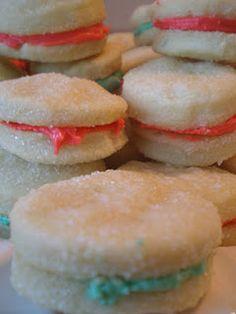 Cream Parisian Wafers. Favorite Christmas Cookies.