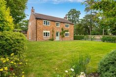 Classic county cottage set in a large garden, 20 mins from main line to London for details, contact Winkworths, Bourne Exposed Brick Walls, Exposed Beams, Country Life, Country Living, Grey Painted Walls, Log Burning Stoves, Window Seat Storage, Multi Fuel Stove, Paved Patio