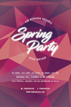 (Javier Sebastián) Flyer Spring Party