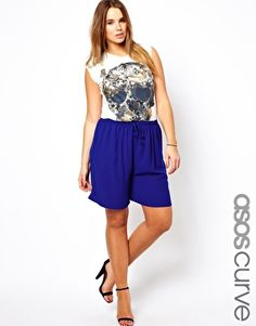Image 1 of ASOS CURVE Soft Culottes