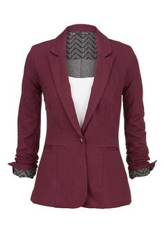Chevron cuff knit blazer (original price, $49) available at #Maurices