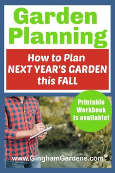 Late Summer and Fall are the best times to plan ahead for next year's gardens while everything is still fresh in your mind. Learn how to plan out your flower gardens and vegetable gardens for next season with helpful step-by-step directions and avoid making the same gardening mistakes. Printable garden planner is available. #ginghamgardens #gardenplanning Gardening For Beginners, Gardening Tips, Growing Lettuce, Vegetable Garden Tips, Garden Planner, Plant Markers, Balloon Flowers, Low Maintenance Garden, Growing Seeds