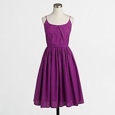 I love the look and color of this dress  Factory geo eyelet dress