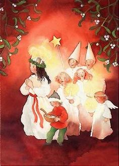 Lucia Star Boys Photo by spiritguidedwoman Magical Christmas, All Things Christmas, Vintage Christmas, Christmas Holidays, Christmas Decorations, Merry Christmas, Xmas, Sankta Lucia, Santa Lucia Day