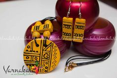 Yellow terracotta set simple and trendy with by Varnakala on Etsy