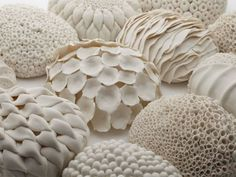 Laura McNamara is a ceramic artist based in Ireland. She creates beautiful sculptural ceramics with porcelain clay & draws inspiration from science & mother nature. Porcelain Clay, Ceramic Clay, Ceramic Pottery, Sculptures Céramiques, Sculpture Art, Ceramic Sculptures, Cell Forms, Organic Ceramics, Ceramic Techniques