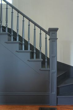 Victorian Architecture - Chic Design Investments: The Morrison House: A Modern Victorian Farmhouse Stair Spindles, Staircase Railings, Staircase Design, Stairways, Bannister, Iron Railings, Victorian Farmhouse, Modern Victorian, Victorian Homes