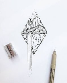 Wasserfall Natur Dotwork Tattoo Idee - # Check more at sketch. - Wasserfall Natur Dotwork Tattoo Idee – # Check more at sketch. Natur Tattoos, Kunst Tattoos, Trendy Tattoos, Cool Tattoos, Tatoos, Stylo Art, Geometric Drawing, Geometric Nature, Geometric Flower