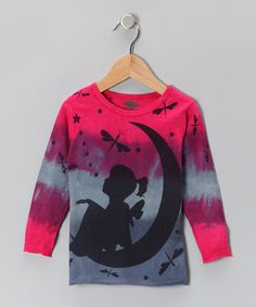 Take a look at this Fuchsia & Gray Moon Fairy Organic Tee - Toddler & Girls by IMAGINE GreenWear on #zulily today!