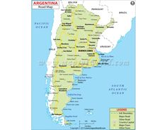 Argentina Highway Map - Laminated W x H) San Salvador, Bolivia, Highway Map, Poll Questions, Standard Deviation, Country Maps, Opening Day, Study Materials, Best Memories