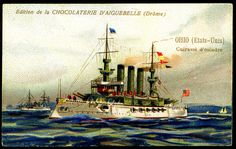 "https://flic.kr/p/8VjyoT | French Tradecard - United States Warship ""Ohio"" 