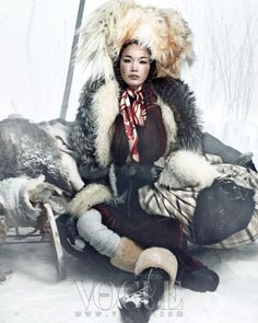 'queen of snow' by hong jan hyun for vogue korea.  january 2012.