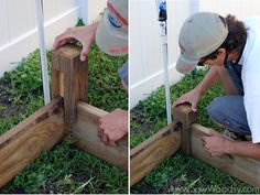 Instructions for building a raised garden bed.