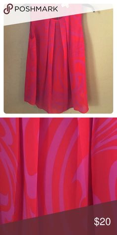 Michael KORS top This vibrant pink and orange tank is perfect for the office in the summer! MICHAEL Michael Kors Tops Tank Tops