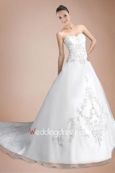 Beautiful Awesome Empire Waistline Chapel Train Wedding Dress - Shop Online for Wedding Dresses at Low Prices