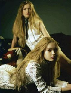 """I, Double"" May and Ruth Bell by Lelaina Pierce for Marie Claire France April 2015"