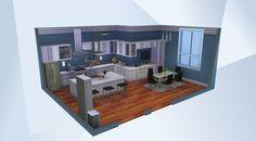 Nombre: Blue Tone Neutral Kitchen . ¡Mira esta habitación en la galería de Los Sims 4! -
