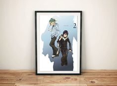 Noragami Yato and Yukine manga cover Print by GreyFoxDesign