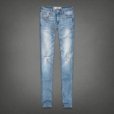 Light Wash Skinny Jeans. Womens A&F Super Skinny Jeans | Womens Sale | Abercrombie.com