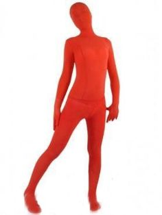 Crimson Red Velvet Unisex Silk Zentai Suit