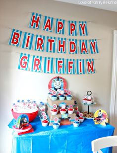 Griffin Turns 2...Thomas The Train Birthday Party - Love of Family & Home