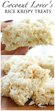 Coconut Lovers be warned this rice krispy treat is going to star in your food daydreams for years to come. I adore coconut and I also LOVE a great rice krispy treat so this combination is pretty much...