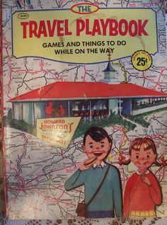 Vintage 1955 Howard Johnsons Restaurant Travel Playbook Games While on The Road