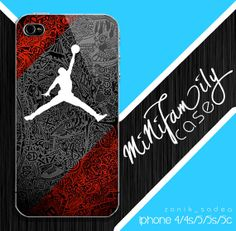 Air Jordan Red case iphone case iphone 4 case by minifamilycase, $14.99