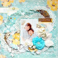 Wishes & Dreams layout by Maiko Kosugi for Prima. www.prima.typepad.com
